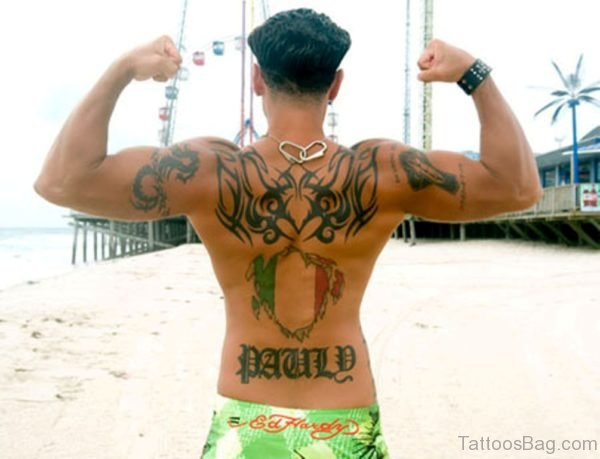 Cool Tribal Tattoo On Back