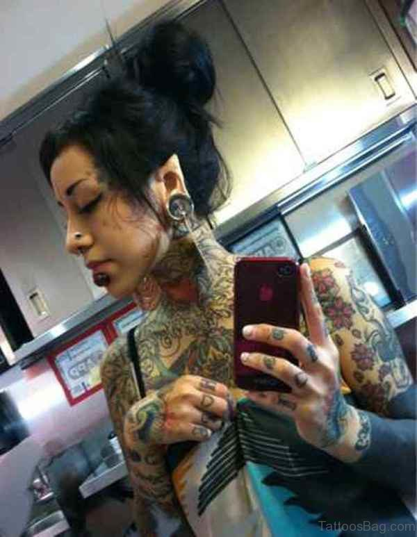 Cover Neck Tattoo For Women