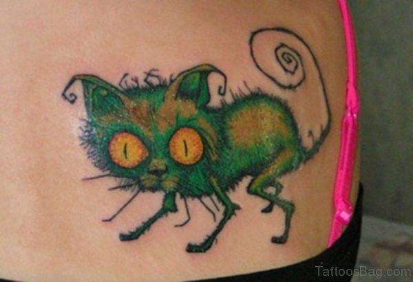 Crazy Cat Tattoo