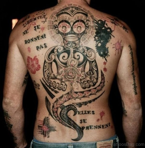 Crazy Full Back Tattoo