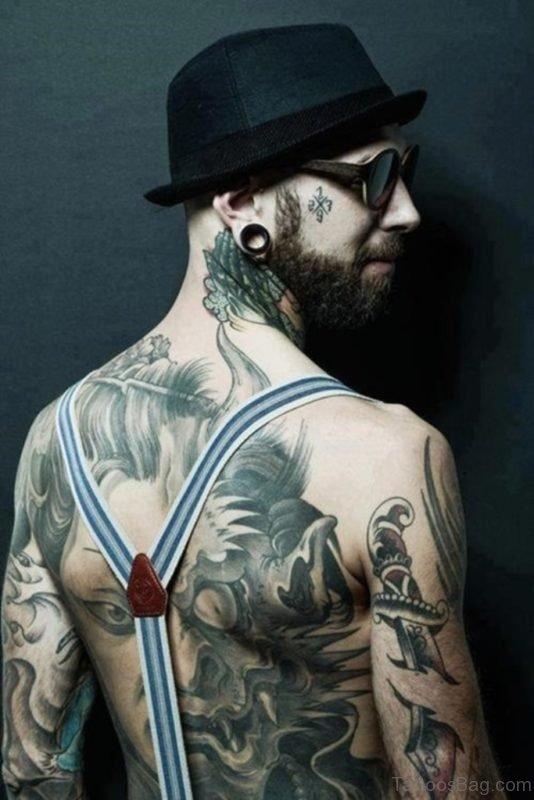 Crazy Full Back Tattoo