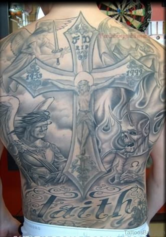Cross And Religious Tattoo