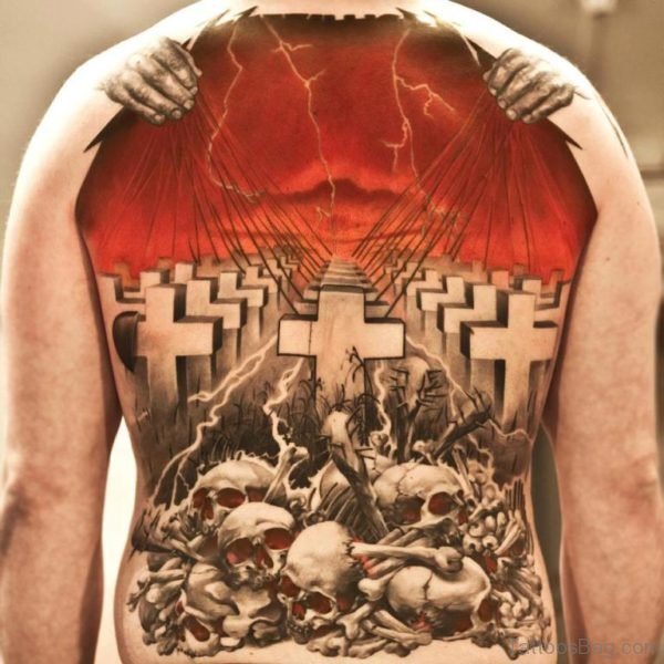 Cross And Skull Tattoo