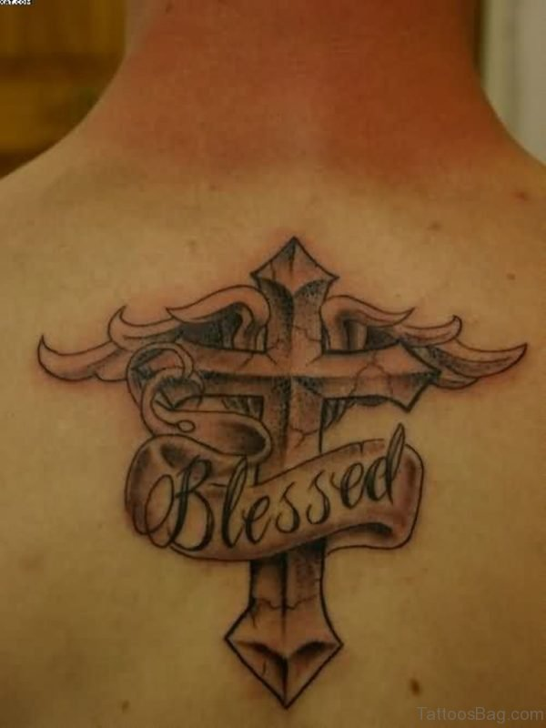 Cross And Wings Tattoo