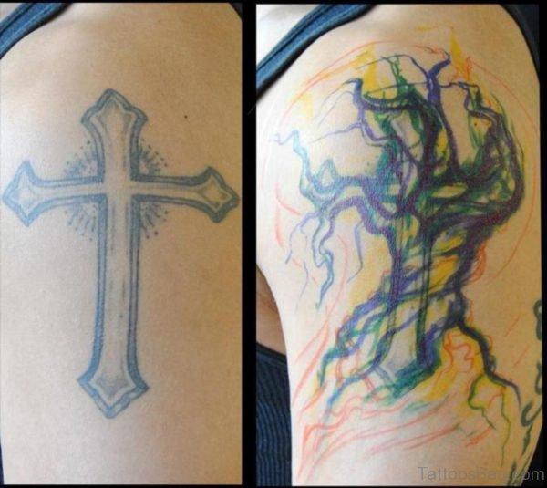 Fancy Cross Tattoo