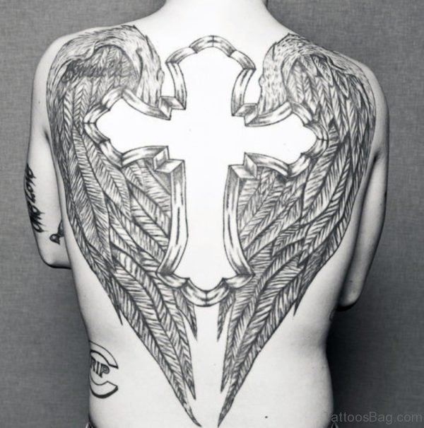 Cross Tattoo On Back