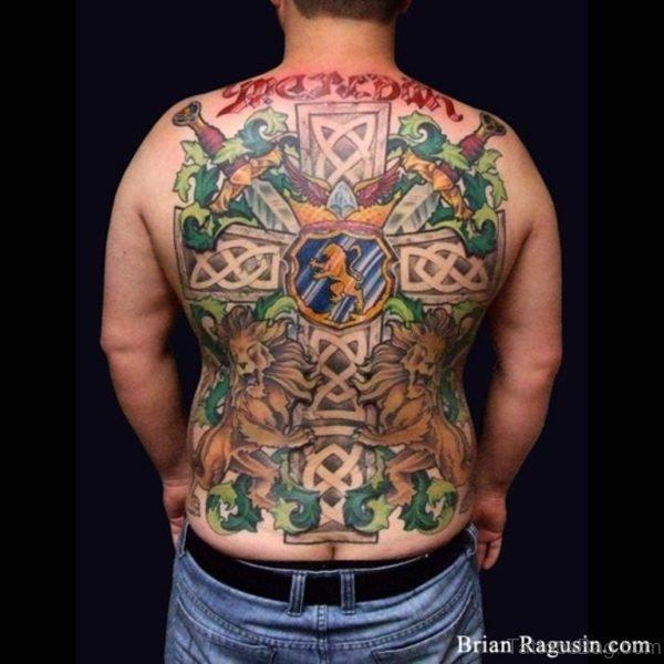 Cross Tattoo On Full Back
