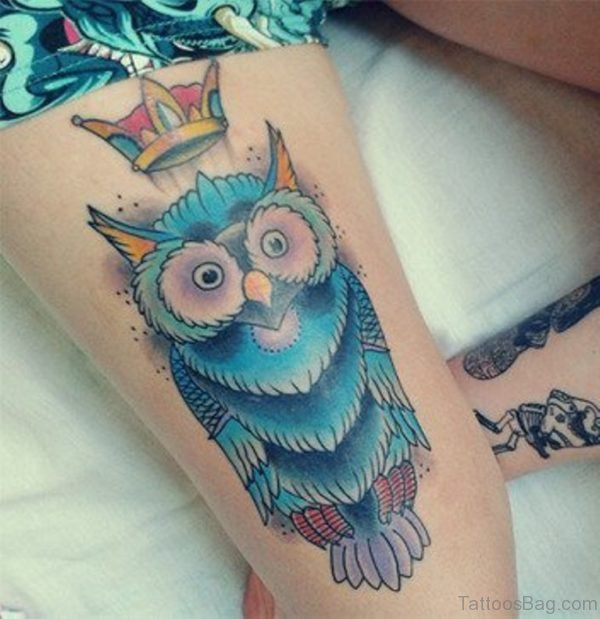 Crown And Owl Tattoo