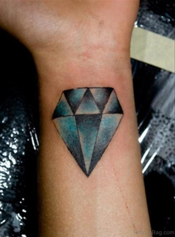 Crystal Diamond Tattoo On Wrist