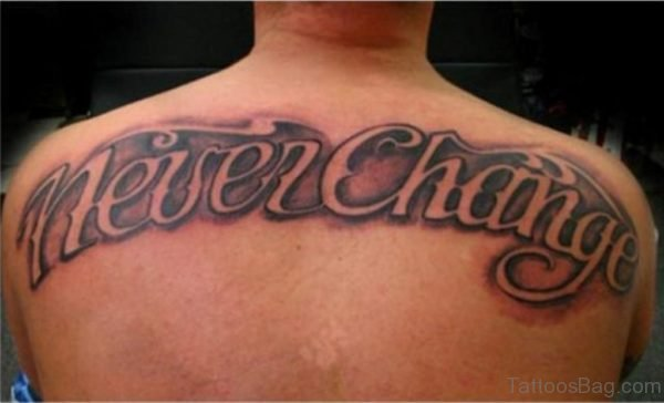 Cursive Font Tattoo On Back