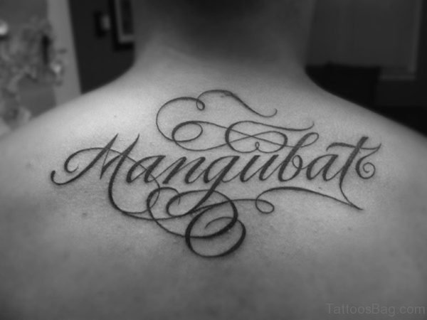 Cursive Name Tattoo On Back
