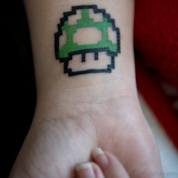 Cute 1 Up Wrist Tattoo Design