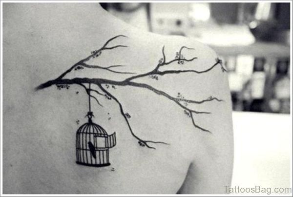 Cute Bird Tattoo Design