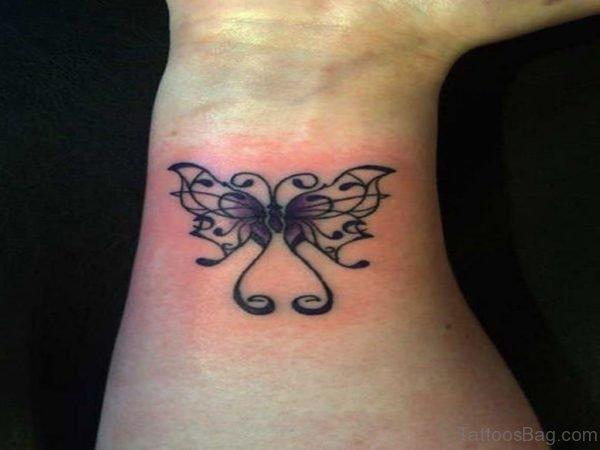 Cute Butterfly Tattoo On Wrist