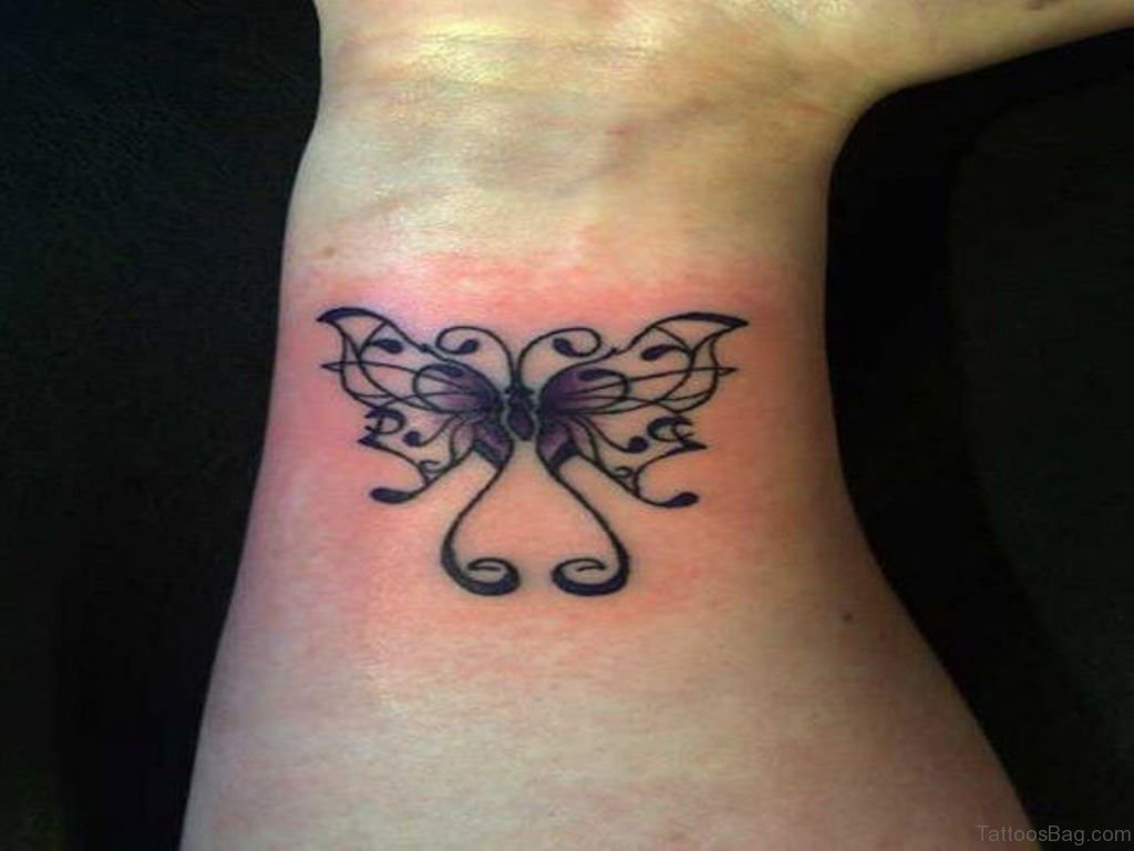 54 divine butterfly wrist tattoos design for Cute butterfly tattoos