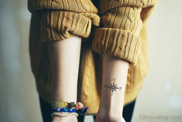 Cute Compass Tattoo