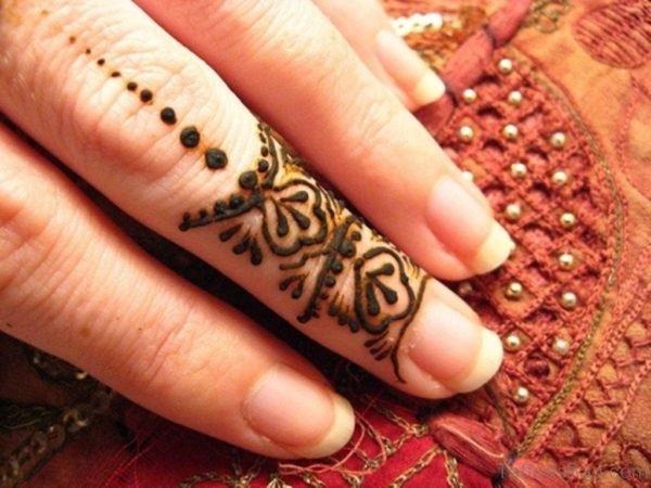 Cute Henna Flower Tattoo
