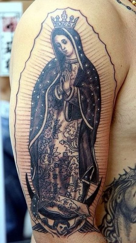 Cute Mary Tattoo