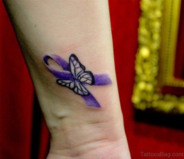 Cute Small Butterfly Tattoo On Wrist
