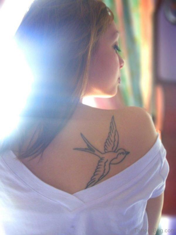 Cute Swallow  Tattoo