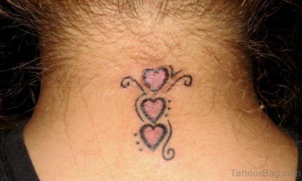 Cute Three Hearts Tattoo