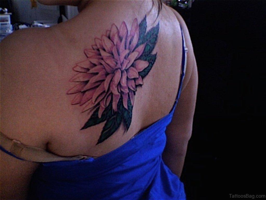 70 lovely flowers tattoos on back for Flower spine tattoo