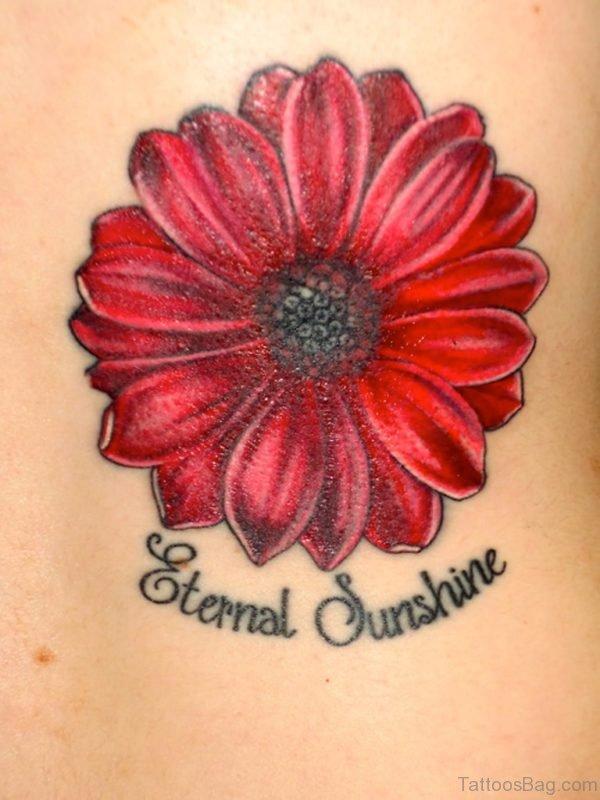 Daisy Flower Tattoo On Back