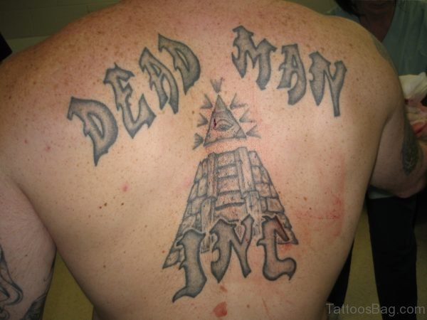 Deep Man Old English Tattoo