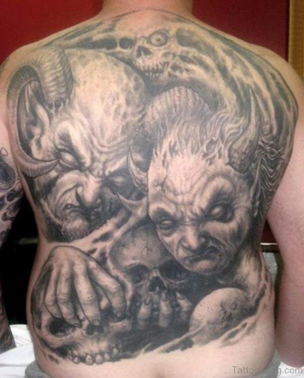 Demons Skull Tattoo
