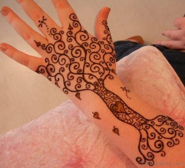 Designer Henna Flower Tattoo