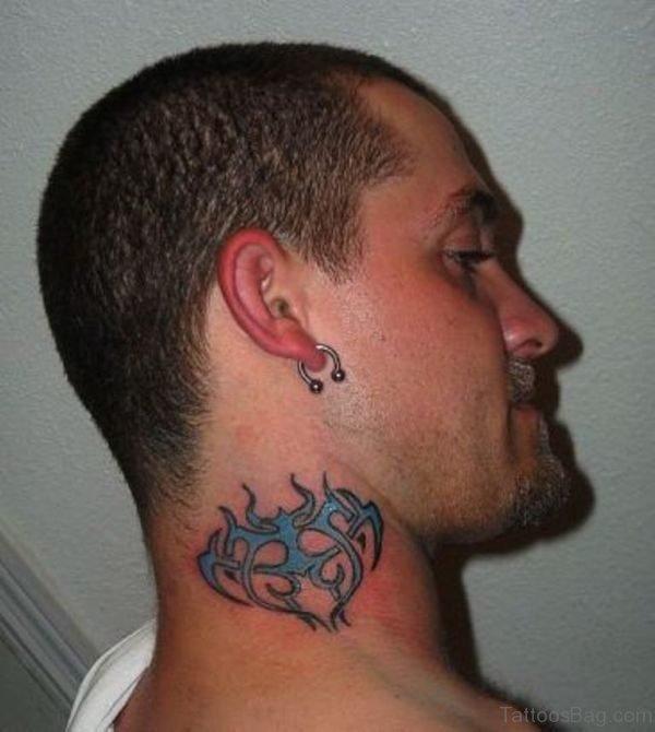 Designer Neck Tattoo For Men