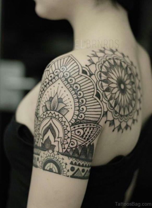 Designer Shoulder Tattoo