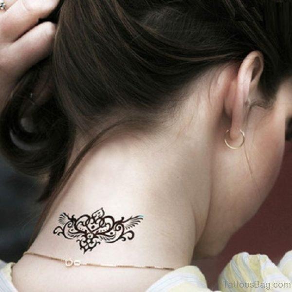 Designer Tattoo On Neck