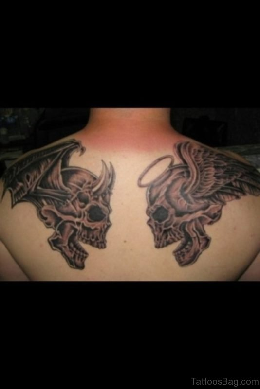 Devil And Skull Tattoo