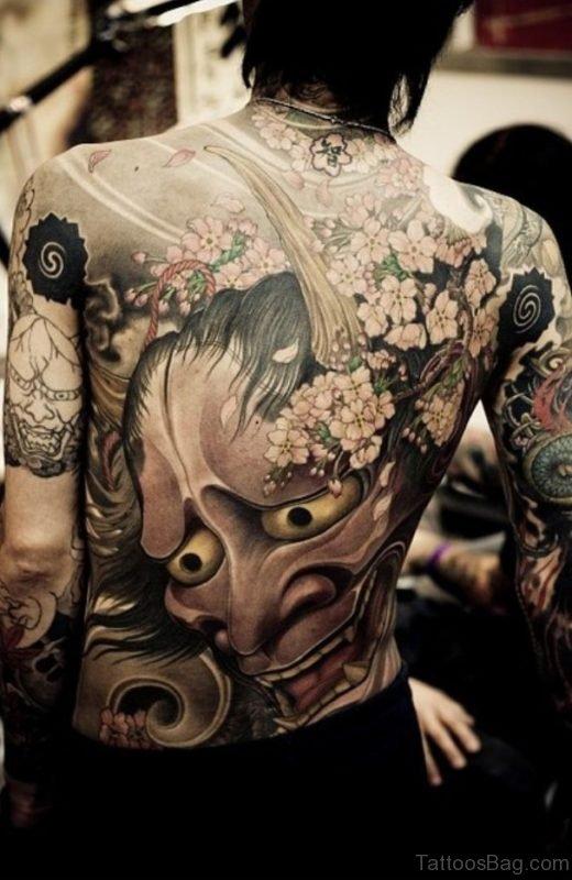 Devil Tattoo Design On Back