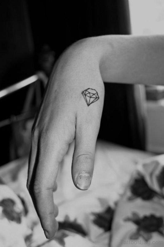 Geometric Diamond  Tattoo On Wrist