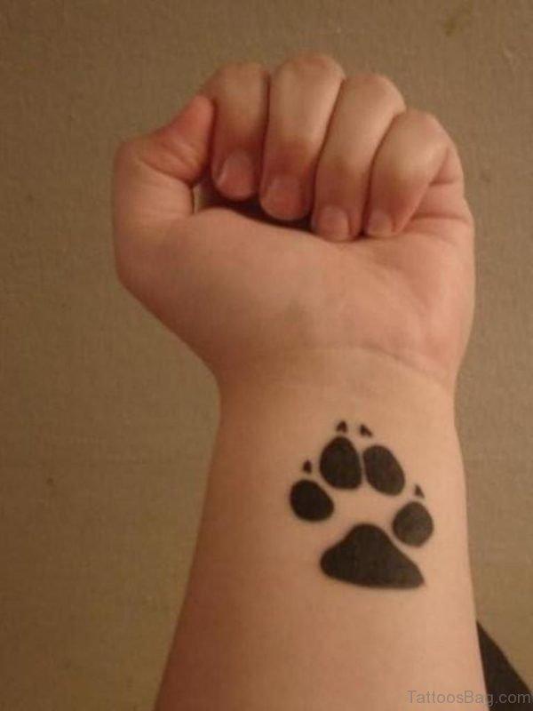 Dog Feet Tattoo On Wrist