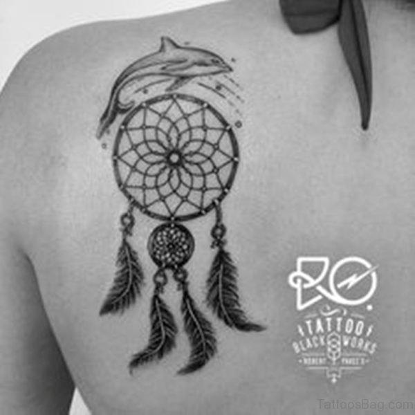 Dolphin And Dreamcatcher Tattoo