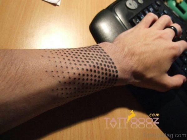 Dotted Geometric Tattoo On Wrist