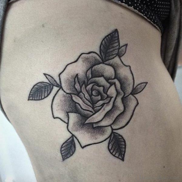 Dotwork Rose Tattoo