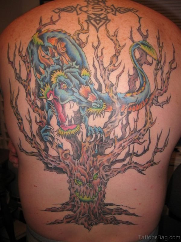 Dragon And Tree Tattoo