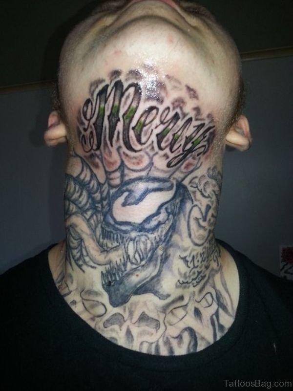 Dragon Neck Tattoo Design