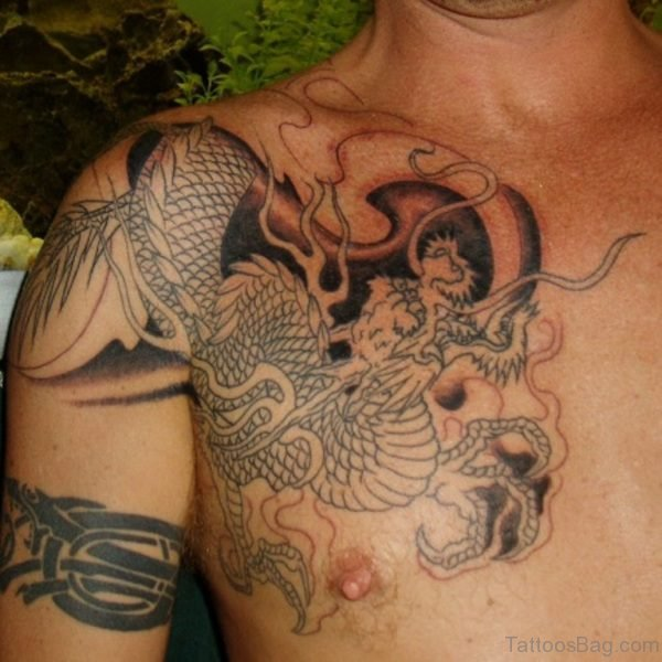 Dragon Shoulder Tattoo For Men