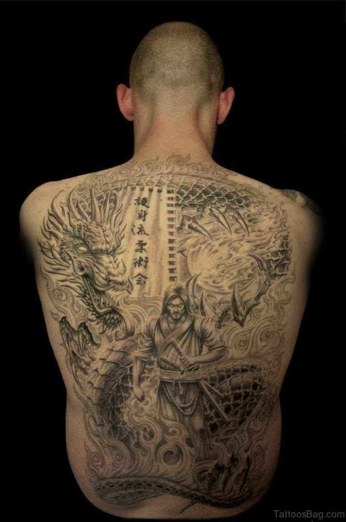 60 good looking spine tattoos for back for Full lower back tattoos