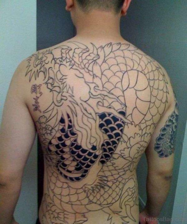 Dragon Tattoo Design  On Full Back