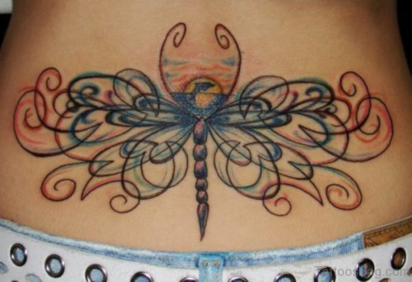 Dragonfly Low Back Tattoo