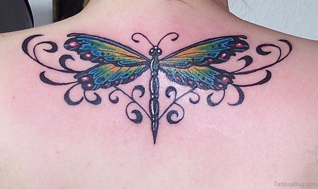 49 Classic Dragonfly Tattoos For Back