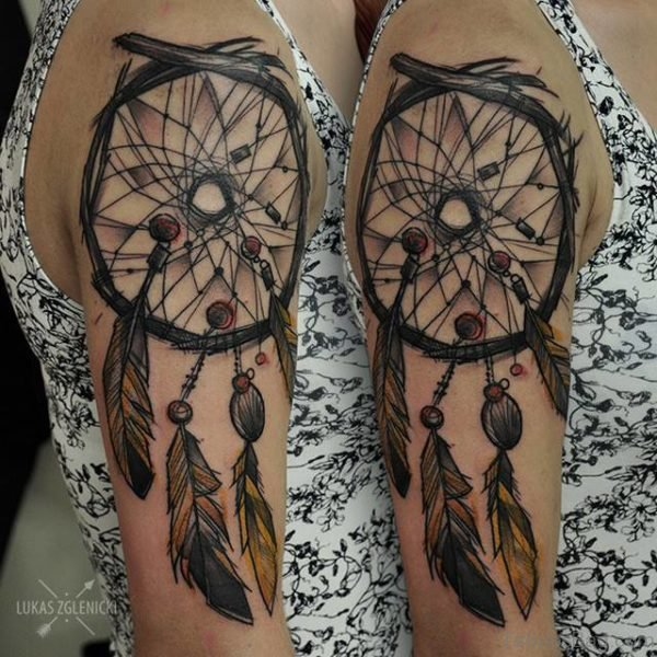 Dream Catcher Elegant Tattoo
