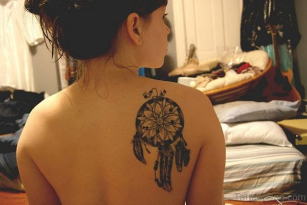 Dreamcatcher Tattoo On Right Back