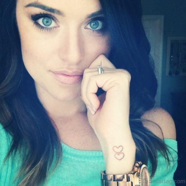 Dual Heart Tattoo On Wrist